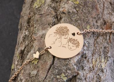 Bracelet cadeau de naissance pour une maman