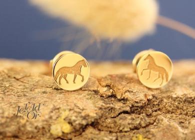 Boucles d'oreilles pour enfant en or éthique 18 carats