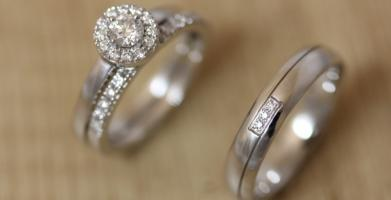 Solitaire diamant avec alliance diamants