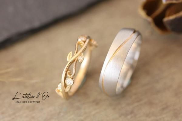 Alliances mariage en or recyclé 18 carats