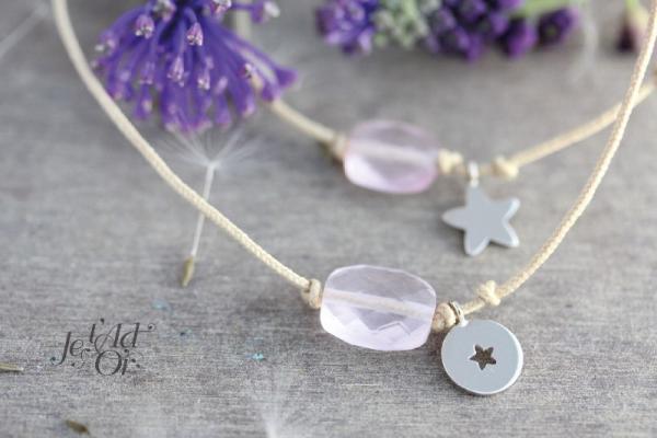 Duo de bracelet mère/fille avec perles fines
